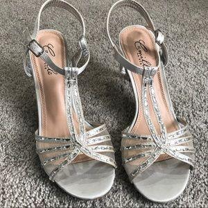 Camille La Vie Silver Formal Heels